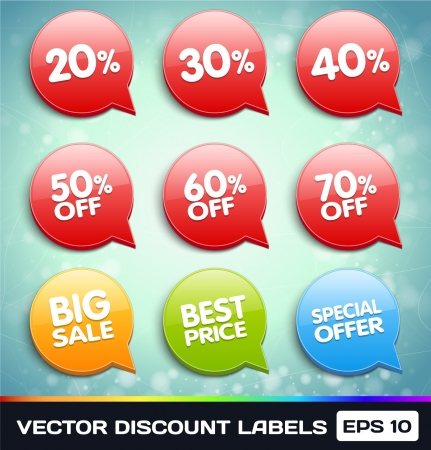 Discount Labels (Tags) Ilustracja