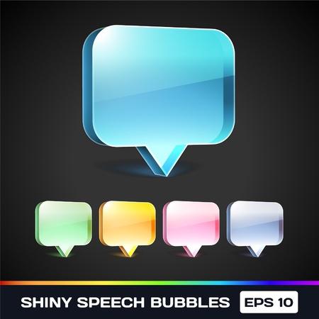 Glanzende Speech Bubbles