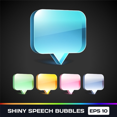 Shiny Speech Bubbles Stock Vector - 17367003