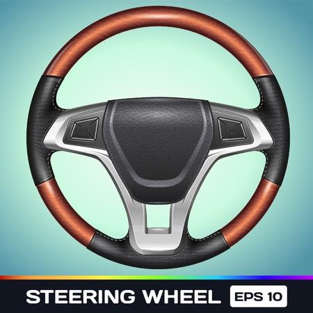 Realistic Vector Steering Wheel Stock Vector - 17367005