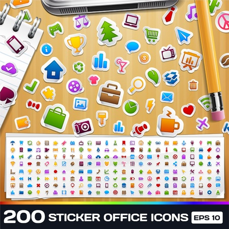 200 Sticker Universal Icons