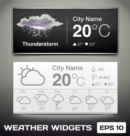 Vector Weather Widgets Stock Vector - 17703082
