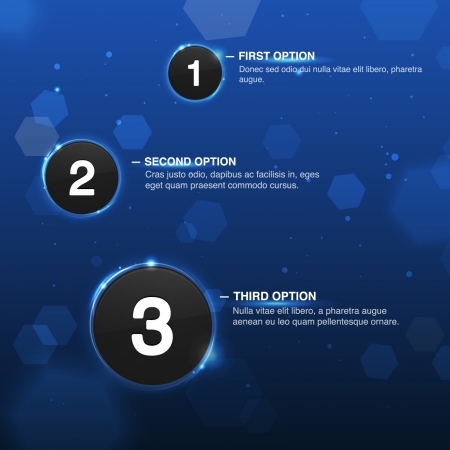 Vector Web Design Template with options or progress