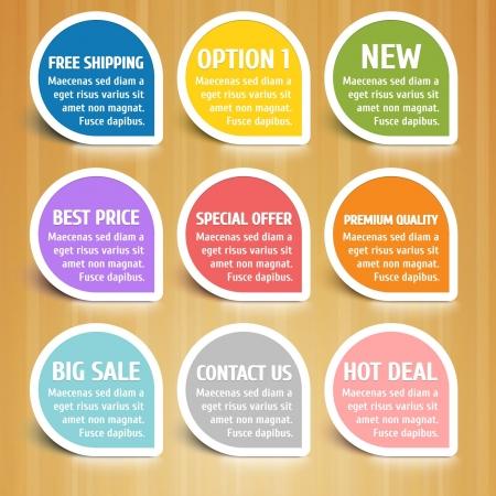 Labels Design Elements Set Illustration