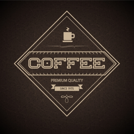 Coffee Label for restaurant, cafe, bar, coffeehouse Vector