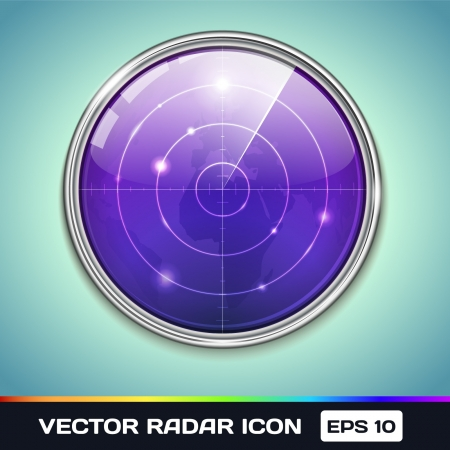 Radar Icon Illustration of radar Screen Vector
