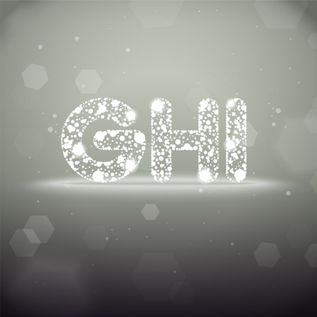Glowing Font from G to I on Bokeh Background Stock Vector - 19118804