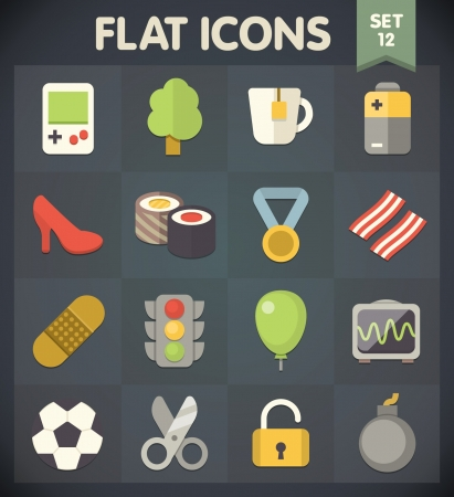 Universal Flat Icons for Web and Mobile Applications Set 11 Stock Vector - 20229994