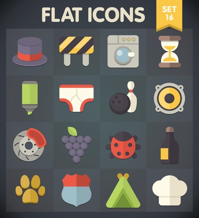 Universal Flat Icons for Web and Mobile Applications  Vector