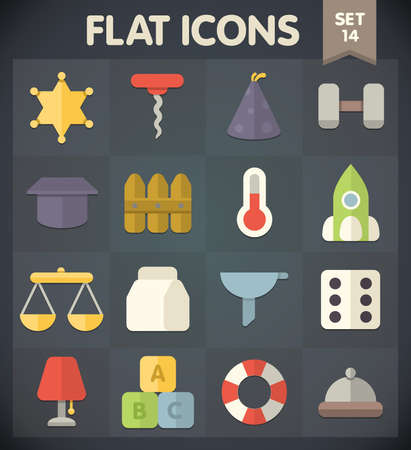 Universal Flat Icons for Web and Mobile Applications Set 14 Stock Vector - 21974437