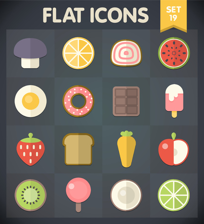 Universal Flat Icons for Web and Mobile Applications Set 19 Vector
