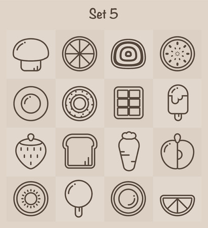Outline Icons Set 5 Vector