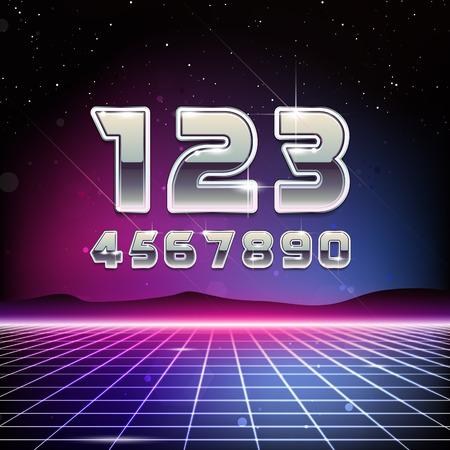 80s Retro Sci-Fi Digits