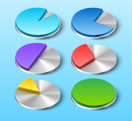 Vector Business Pie Charts for Your Designs Vector
