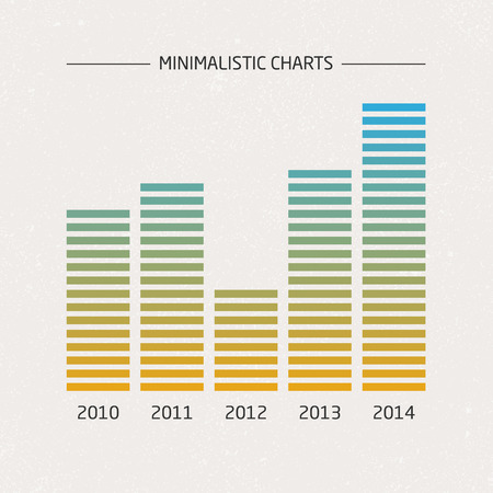 Vector Minimalistic Charts Vector