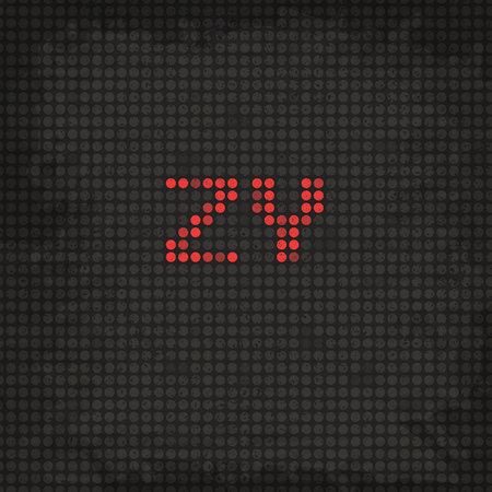 led display: LED Display Scoreboard Dot Grunge Font from Z to Y