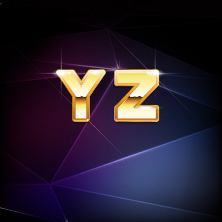 Vector Golden Shiny Alphabet form Y to Z Vector