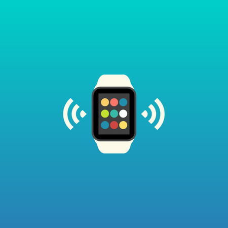 wrist watch: Smart Watch Vector Flat Design Illustration