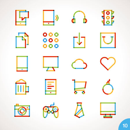 icons collection: Vector Highlighter Line Icons for any purpose Set 10