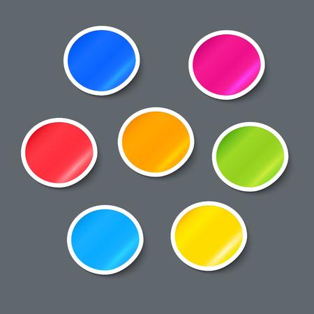 Vector Stickers. Label Design Elements Set