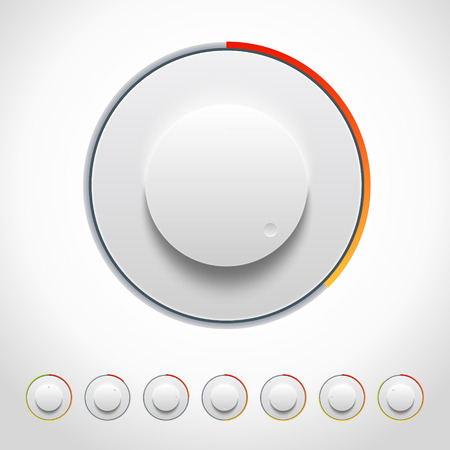 knobs: Vector Lights Knobs Set for Web and Mobile applications Illustration