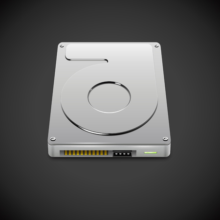 ssd: Vector Data Storage Hard Disc Drive Icon
