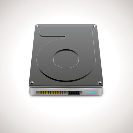 disco duro: Datos Vector duro Almacenamiento icono de la unidad Vectores
