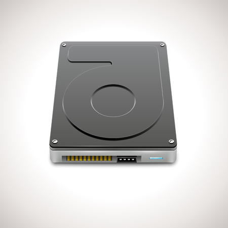 hard disk drive: Vector Data Storage Hard Disc Drive Icon