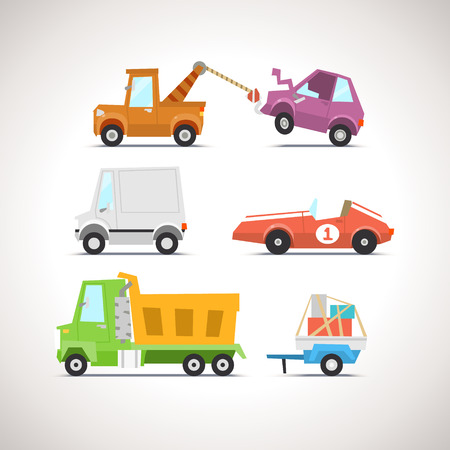 Car Flat Icon Set 4
