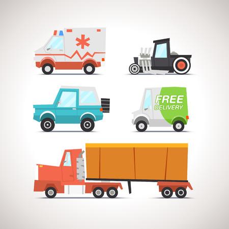 Car Flat Icon Set 3 Illustration