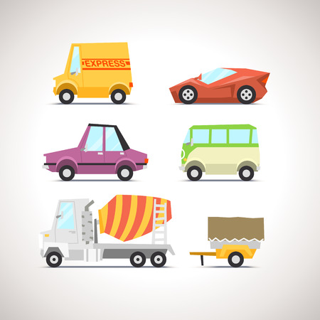 car: Car Flat Icon Set 5