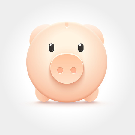 money box: Vector Piggy Money Box Icon Illustration