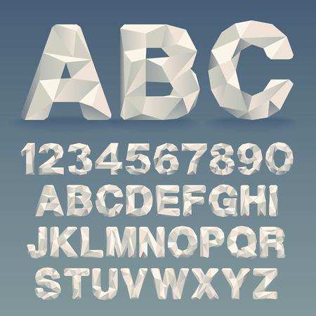 벡터 Lowpoly 글꼴