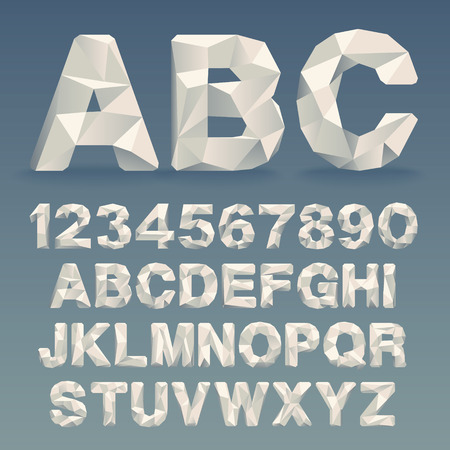 alphabet: Vector Lowpoly Font