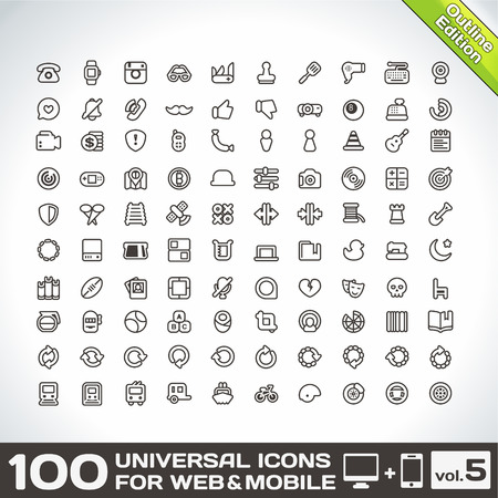 universal icons: 100 Universal Icons For Web and Mobile volume 5