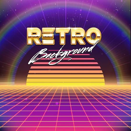 futurism: 80s Retro Futurism Sci-Fi Background