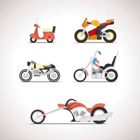 Car Flat Icon Set 1 Illustration