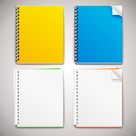 Vector Spiral Ring Notebooks Ilustracja