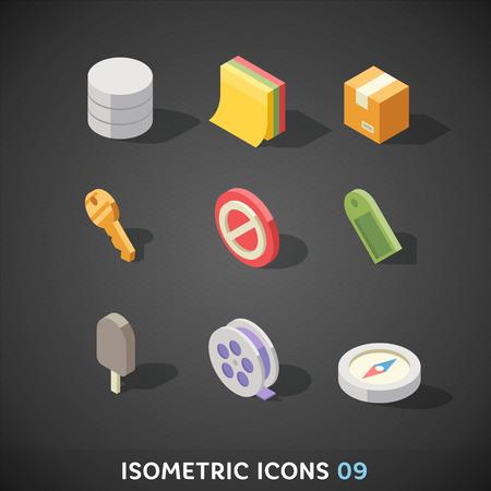 database icon: Flat Isometric Icons Set