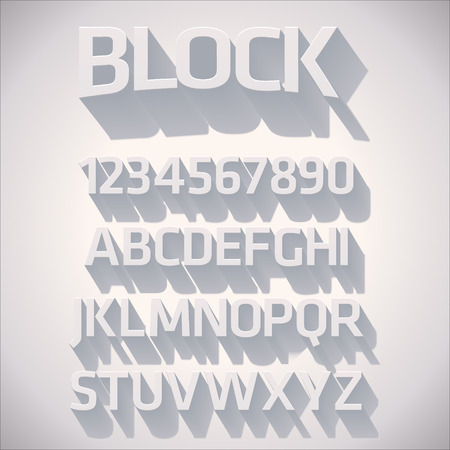 Vector 3D Font with shadow