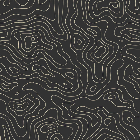 Topographic Map Seamless Pattern. Vector Background Banco de Imagens - 38628549