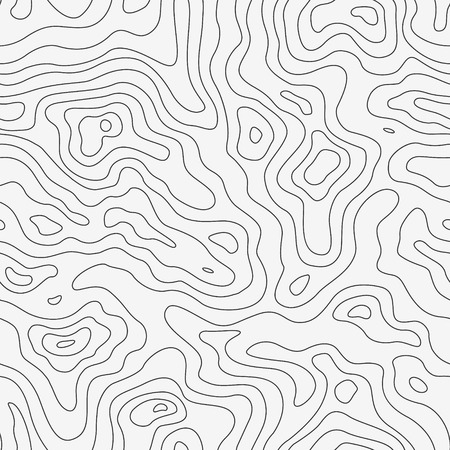 Topographic Map Seamless Pattern. Vector Background