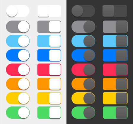 toggle: Vector Colorful Switchers