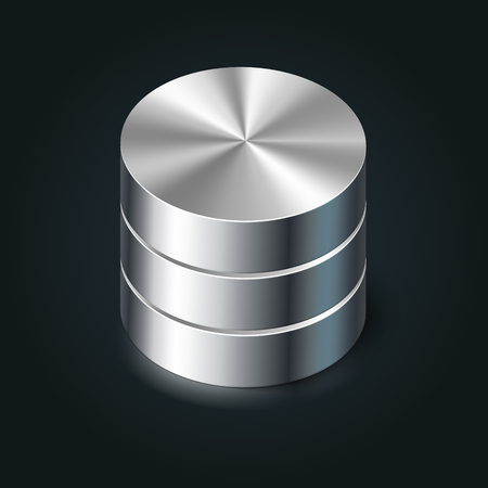 Data Storage Icon, vector database illustration Vector