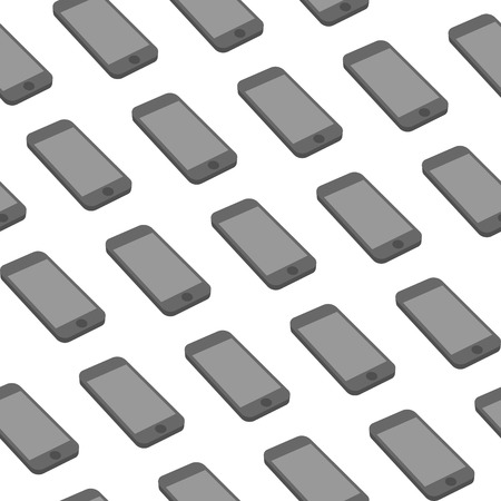2d: Vector Seamless Pattern with Repeating Smart Phones