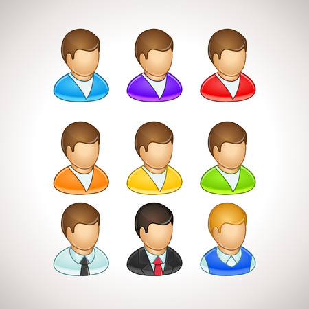 Colorful User Icons different vector avatars