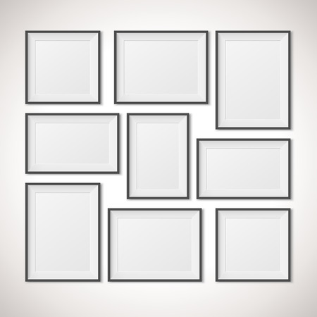 photo paper: Multiple Frames vector illustration