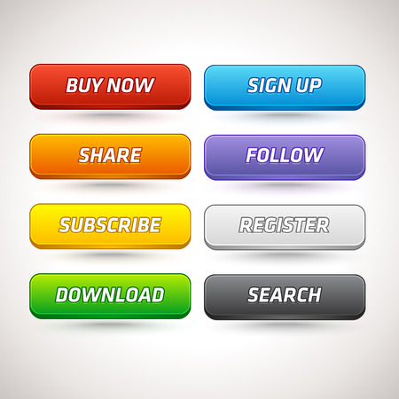 internet button: Vector Colorful Buttons for Different Purpose