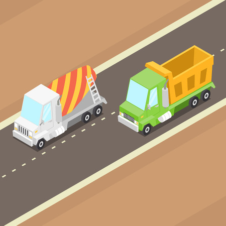 ベクトル漫画等尺性トラック