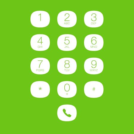 keypad: Phone Keypad for Touchscreens. Vector User Interface